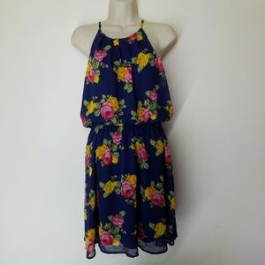 NEW!! DNA Couture Strappy Floral Dress